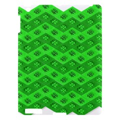 Shamrocks 3d Fabric 4 Leaf Clover Apple Ipad 3/4 Hardshell Case by Simbadda