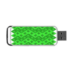 Shamrocks 3d Fabric 4 Leaf Clover Portable Usb Flash (one Side) by Simbadda