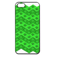 Shamrocks 3d Fabric 4 Leaf Clover Apple Iphone 5 Seamless Case (black) by Simbadda