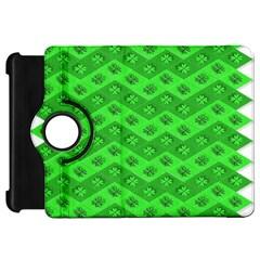 Shamrocks 3d Fabric 4 Leaf Clover Kindle Fire Hd 7  by Simbadda