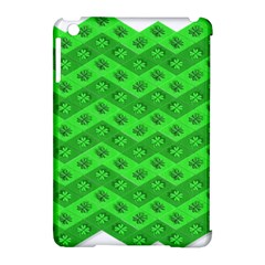 Shamrocks 3d Fabric 4 Leaf Clover Apple Ipad Mini Hardshell Case (compatible With Smart Cover) by Simbadda