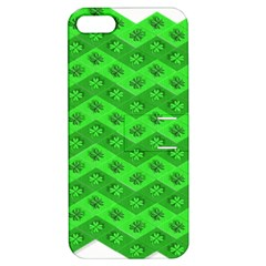 Shamrocks 3d Fabric 4 Leaf Clover Apple Iphone 5 Hardshell Case With Stand by Simbadda