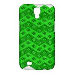 Shamrocks 3d Fabric 4 Leaf Clover Samsung Galaxy Mega 6 3  I9200 Hardshell Case by Simbadda