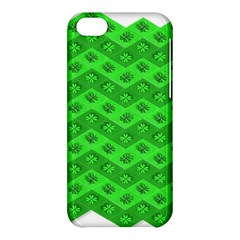 Shamrocks 3d Fabric 4 Leaf Clover Apple Iphone 5c Hardshell Case