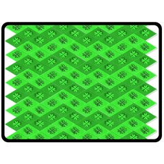 Shamrocks 3d Fabric 4 Leaf Clover Double Sided Fleece Blanket (large)  by Simbadda