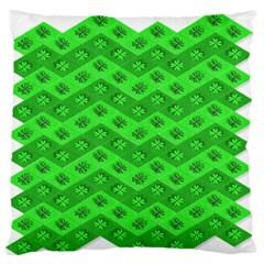 Shamrocks 3d Fabric 4 Leaf Clover Standard Flano Cushion Case (two Sides) by Simbadda
