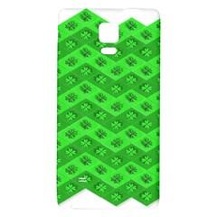 Shamrocks 3d Fabric 4 Leaf Clover Galaxy Note 4 Back Case by Simbadda