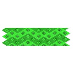 Shamrocks 3d Fabric 4 Leaf Clover Satin Scarf (oblong) by Simbadda