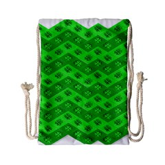 Shamrocks 3d Fabric 4 Leaf Clover Drawstring Bag (small) by Simbadda