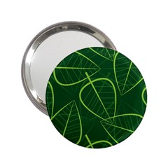 Vector Seamless Green Leaf Pattern 2 25  Handbag Mirrors by Simbadda