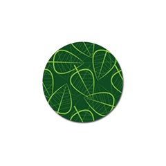 Vector Seamless Green Leaf Pattern Golf Ball Marker by Simbadda