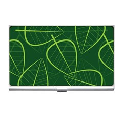 Vector Seamless Green Leaf Pattern Business Card Holders by Simbadda