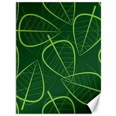 Vector Seamless Green Leaf Pattern Canvas 36  X 48   by Simbadda