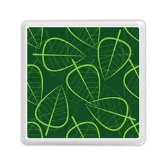Vector Seamless Green Leaf Pattern Memory Card Reader (square)  by Simbadda