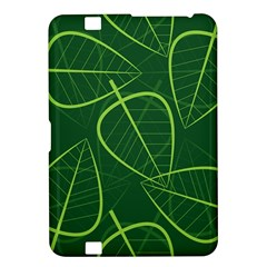 Vector Seamless Green Leaf Pattern Kindle Fire Hd 8 9  by Simbadda