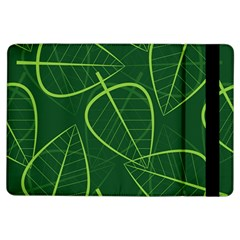 Vector Seamless Green Leaf Pattern Ipad Air Flip by Simbadda