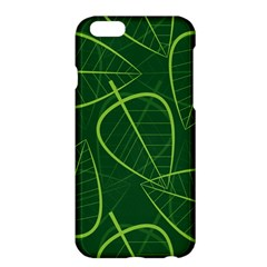 Vector Seamless Green Leaf Pattern Apple Iphone 6 Plus/6s Plus Hardshell Case by Simbadda