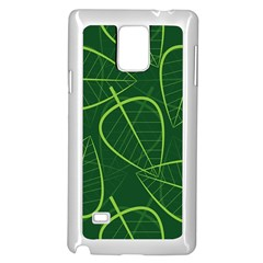 Vector Seamless Green Leaf Pattern Samsung Galaxy Note 4 Case (white)