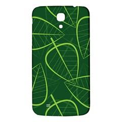 Vector Seamless Green Leaf Pattern Samsung Galaxy Mega I9200 Hardshell Back Case by Simbadda