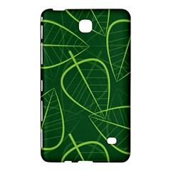 Vector Seamless Green Leaf Pattern Samsung Galaxy Tab 4 (7 ) Hardshell Case  by Simbadda