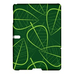 Vector Seamless Green Leaf Pattern Samsung Galaxy Tab S (10 5 ) Hardshell Case  by Simbadda