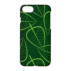 Vector Seamless Green Leaf Pattern Apple Iphone 7 Hardshell Case by Simbadda