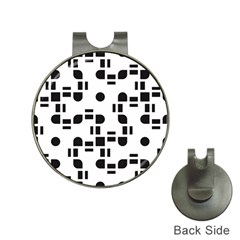 Black And White Pattern Hat Clips With Golf Markers by Simbadda