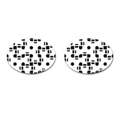 Black And White Pattern Cufflinks (oval) by Simbadda