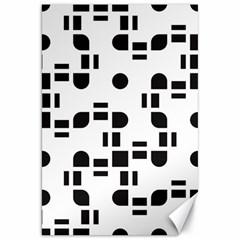 Black And White Pattern Canvas 20  X 30   by Simbadda