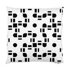 Black And White Pattern Standard Cushion Case (two Sides) by Simbadda