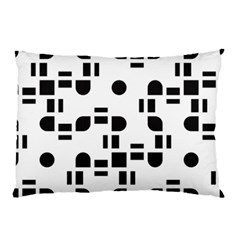 Black And White Pattern Pillow Case by Simbadda