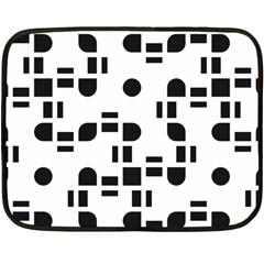 Black And White Pattern Double Sided Fleece Blanket (mini)  by Simbadda
