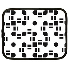 Black And White Pattern Netbook Case (xxl)  by Simbadda