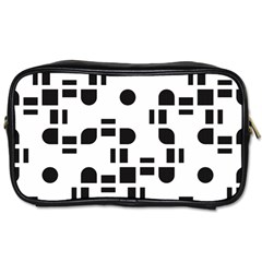 Black And White Pattern Toiletries Bags by Simbadda