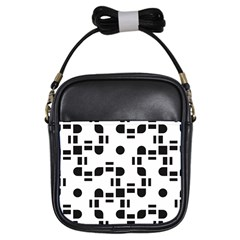 Black And White Pattern Girls Sling Bags by Simbadda