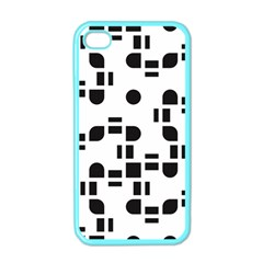 Black And White Pattern Apple Iphone 4 Case (color) by Simbadda