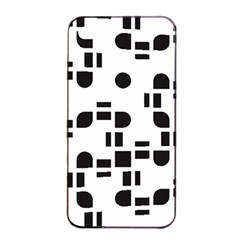 Black And White Pattern Apple Iphone 4/4s Seamless Case (black) by Simbadda