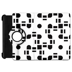 Black And White Pattern Kindle Fire Hd 7  by Simbadda
