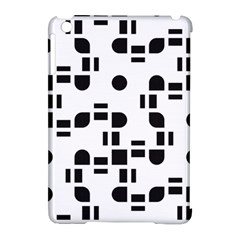 Black And White Pattern Apple Ipad Mini Hardshell Case (compatible With Smart Cover) by Simbadda