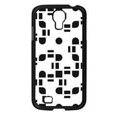 Black And White Pattern Samsung Galaxy S4 I9500/ I9505 Case (black) by Simbadda