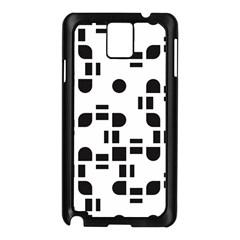 Black And White Pattern Samsung Galaxy Note 3 N9005 Case (Black)
