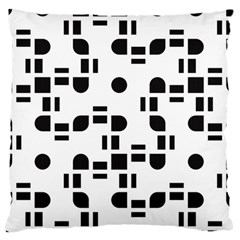 Black And White Pattern Standard Flano Cushion Case (two Sides) by Simbadda