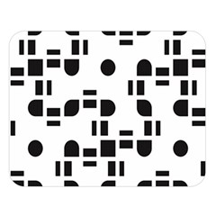 Black And White Pattern Double Sided Flano Blanket (large)  by Simbadda