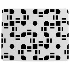 Black And White Pattern Jigsaw Puzzle Photo Stand (rectangular) by Simbadda