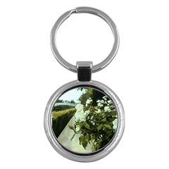 London Bridge Rose Key Chain (round)