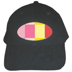 Colorful Squares Background Black Cap by Simbadda