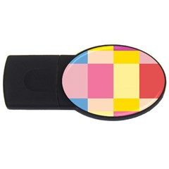 Colorful Squares Background Usb Flash Drive Oval (4 Gb) by Simbadda