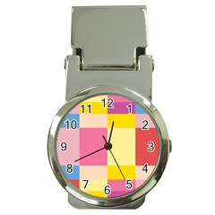 Colorful Squares Background Money Clip Watches by Simbadda