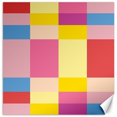 Colorful Squares Background Canvas 16  X 16   by Simbadda