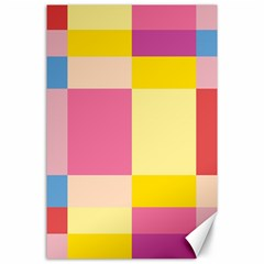 Colorful Squares Background Canvas 24  X 36  by Simbadda